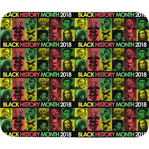 Black History Month 2018 Black Star Color Funny Mouse pad Locking Edge Mousemat for Laptop,Computer,PC,Keyboard 270x320 mm 10.5x12.5inch