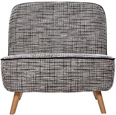 Moooi Cocktail Chair Fauteuil, Noir et Blanc Tissu Bouclé