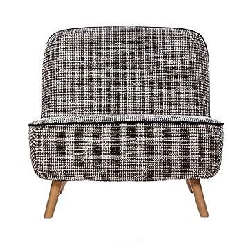 Moooi Cocktail Chair Sessel Schwarz Weiß Stoff Bouclé Black White