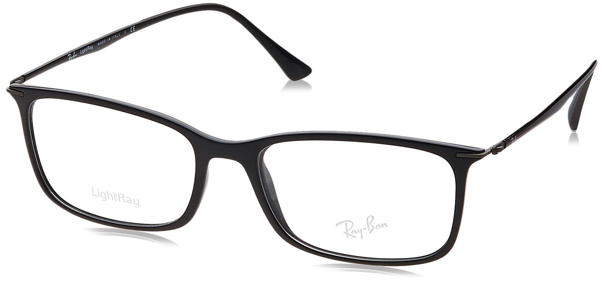 Ray-Ban Men's RX7031 Eyeglasses Shiny Black 53mm by Ray-Ban