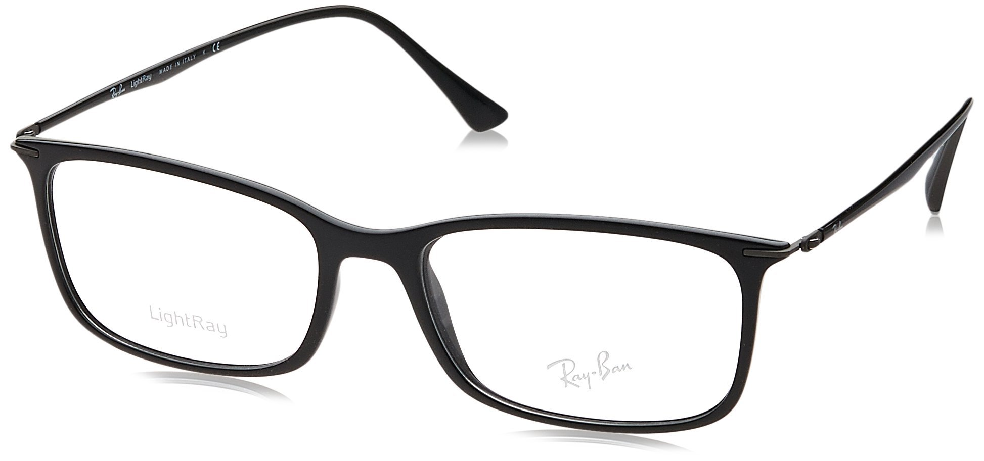 Ray-Ban Men's RX7031 Eyeglasses Shiny Black 53mm
