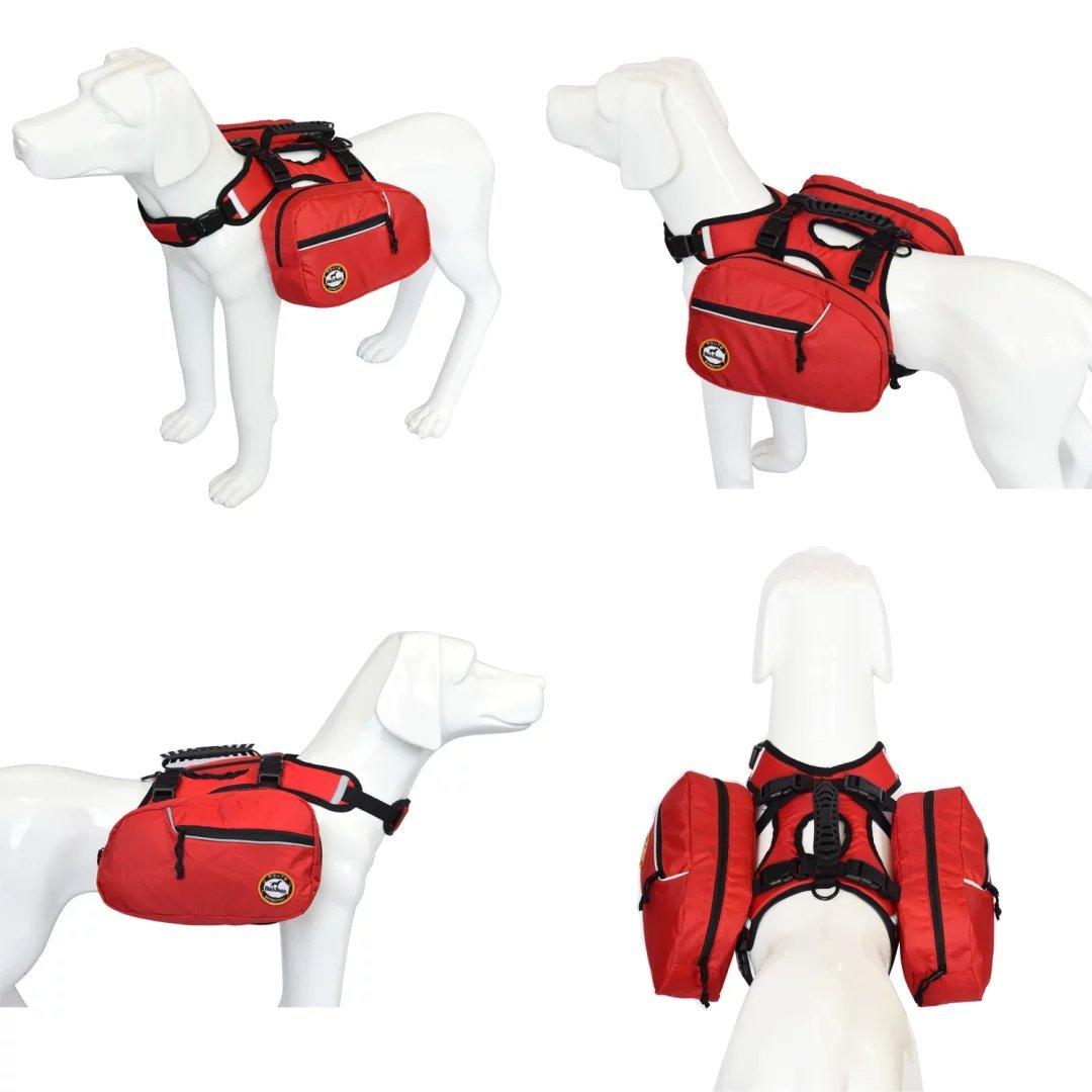Medium BLACKDOGGY Dog Backpack Adjustable/Pack For Outdoor Hiking Saddlebag Style Dog Accessory