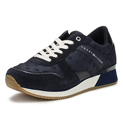 0ff3f8f4abbe38 Tommy Hilfiger Star Sneaker Trainers Blue 8 UK  Amazon.co.uk  Shoes ...