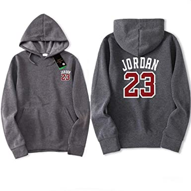 Jordan 23 Men Sportswear Hoodie Mens Hoodies Pullover Hip Hop Mens Sweatshirts Dark Grey