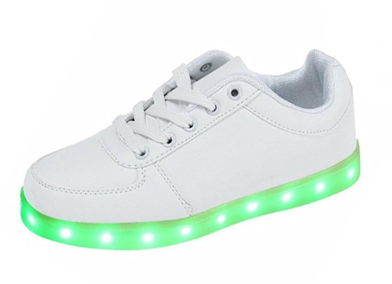 Minetoms Unisex 7 Farbe USB Aufladen LED Leuchtend Sport Schuhe Sportschuhe  Sneaker Turnschuhe für Damen Herren Jungen Mädchen ( Weiß EU 46 ): Amazon.de:  ...