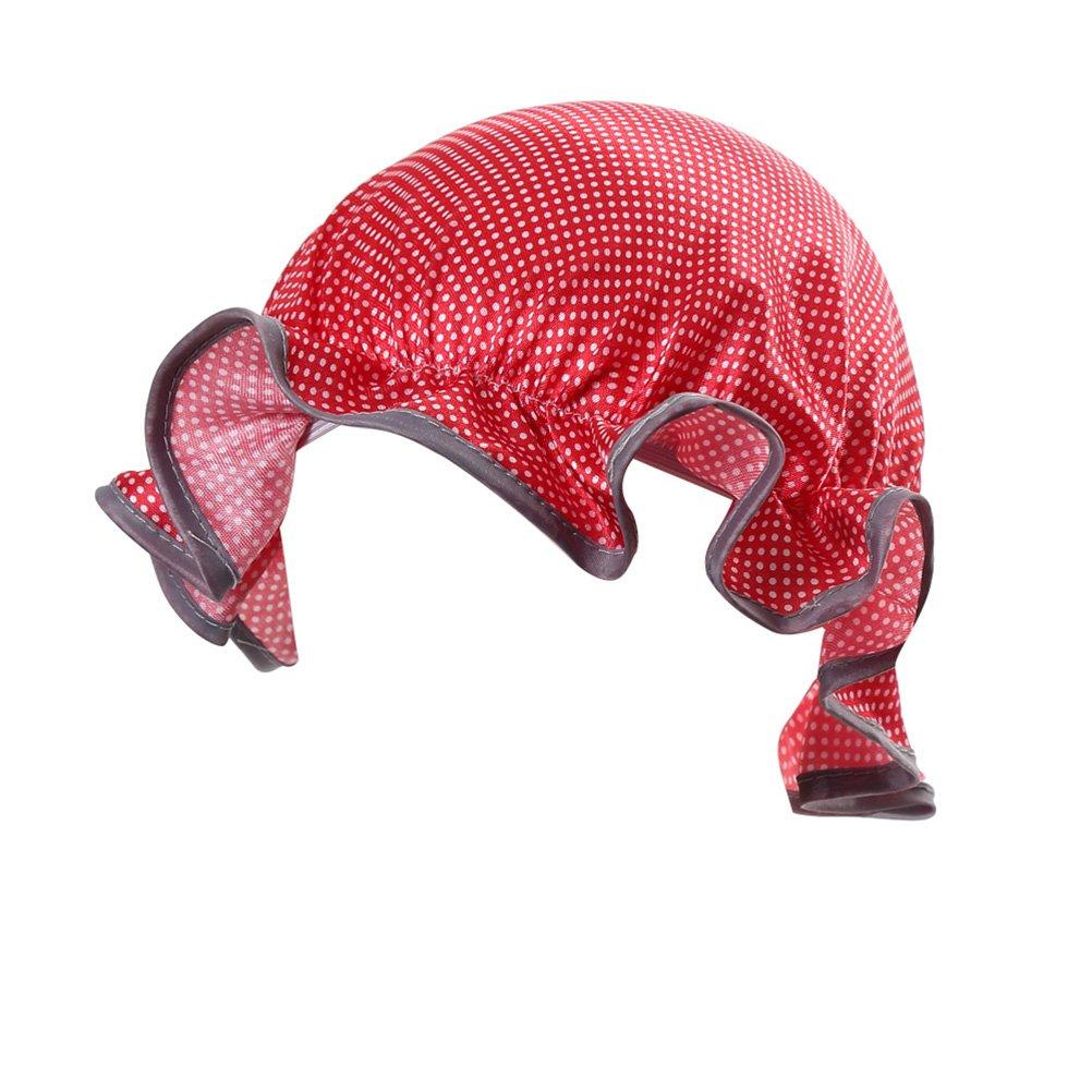 OUNONA Cuffia per bambini Doppio strato impermeabile in Rosso