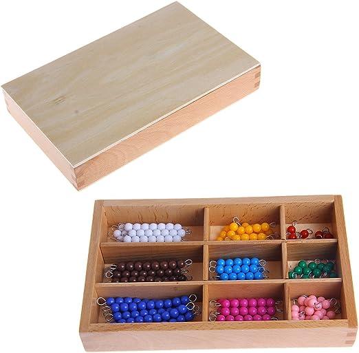 Xiangrun Juegos educativos, Juguete del niño de Montessori de Educación Inicial, Matemáticas Material de Juguete de Madera Cuentas Barra de 1 a 9 Cuentas: Amazon.es: Hogar