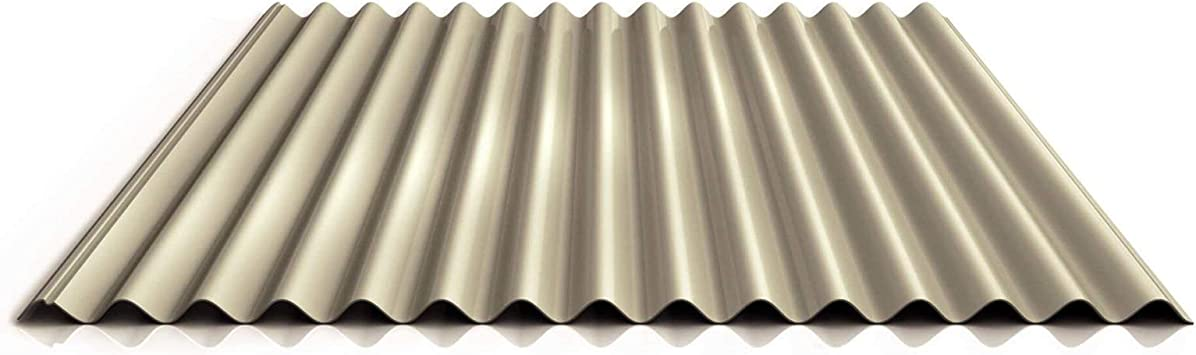 Chapa ondulada perfilada PS18/1064CRA, panel de techo, material de acero, grosor 0,75 mm, revestimiento 25 µm, color marfil: Amazon.es: Bricolaje y herramientas