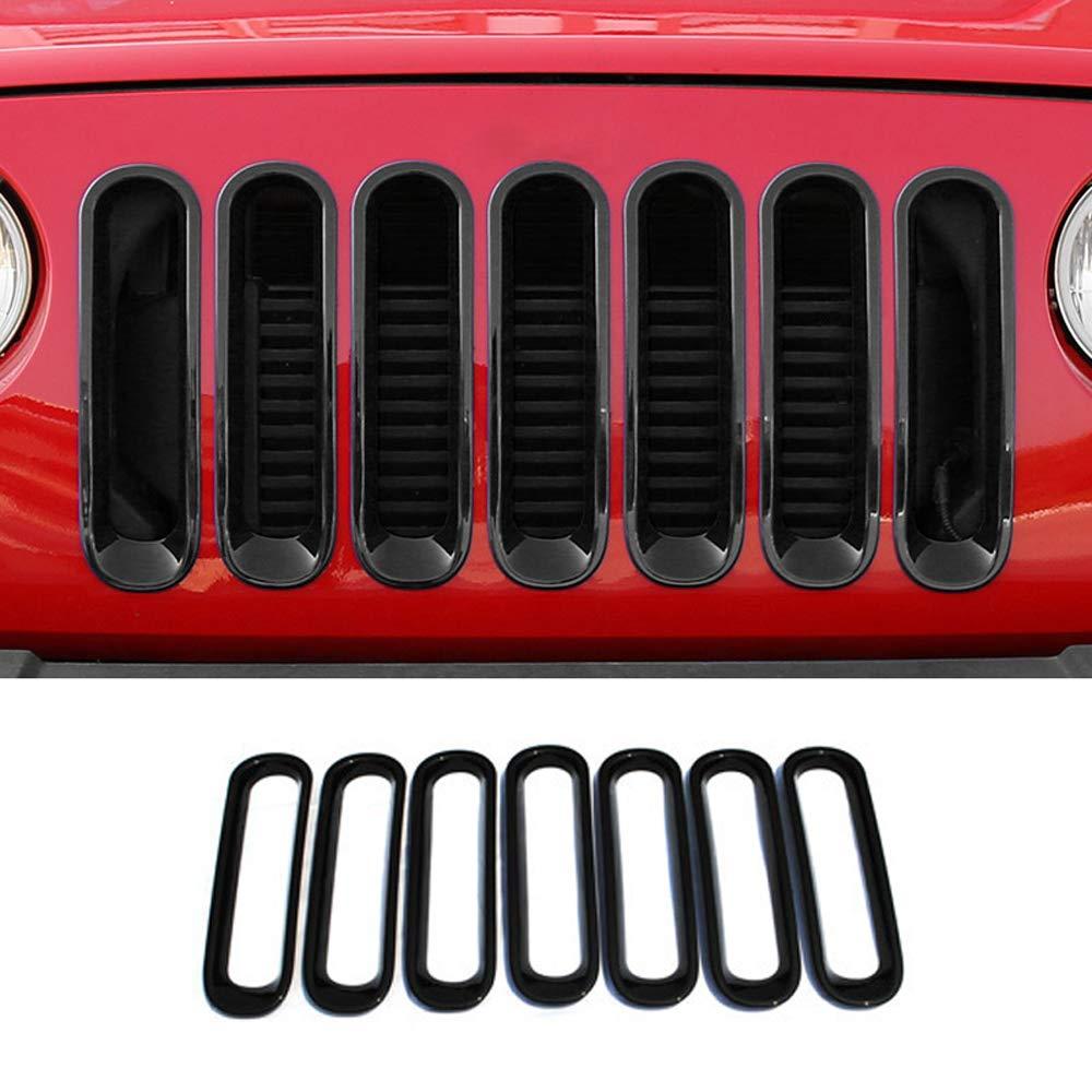 YYD Gloss Black Paraurti Anteriore del Rene Sport griglia griglia per 2007-2015 Jeep Wrangler,Color