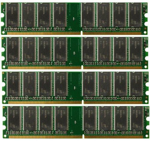 4GB 4X 1GB DDR PC3200 4 GB PC 3200 400 LOW DENSITY DESKTOP MEMORY RAM DUAL KIT (3200 Pc 1 Ddr Gb)