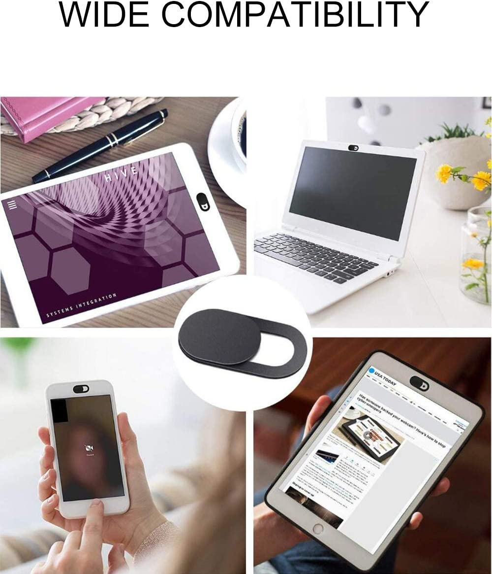 2 Pack, Metal Magnet KAILIMENG Webcam Cover Slide Ultra-Thin Sliding Privacy Sticker Covers for Computer Tablet MacBook iPhone 6//7//8 Plus and Phone with Regular Webcams iPad iMac