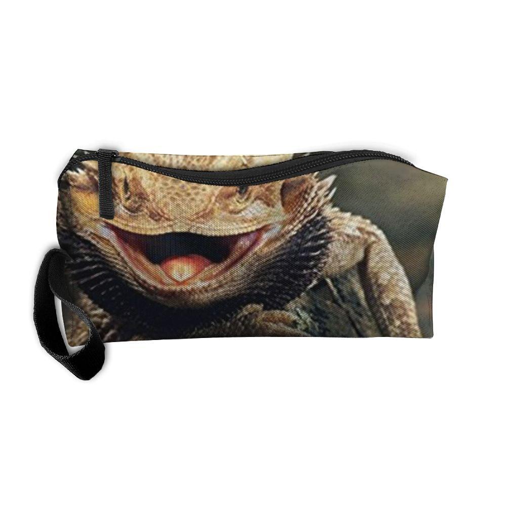 メイクアップバッグ/トラベルコスメティックバッグ/トイレバッグ/ジュエリーストレージバッグポータブル多機能Bearded Dragon Lizards旅行化粧品バッグメイクアップバッグWashオーガナイザー。   B07C3RFXWL