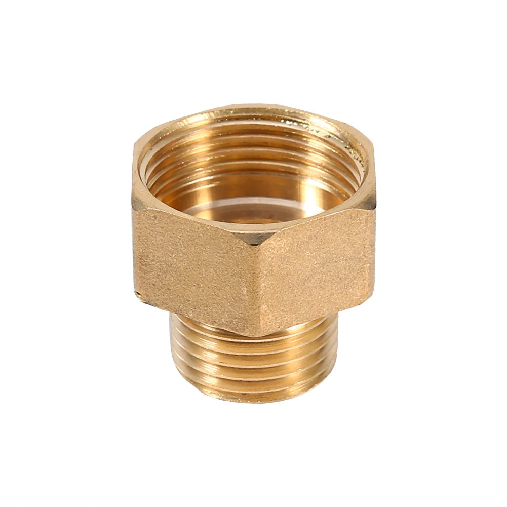 2pcs 1//2BSPT Male and 3//4BSPT Female Brass Water Pipe Hose Fitting Reducing Hex Head Adapter Convert Bushing Thread Brass Pipe Adapter