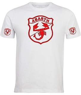 T-Shirt /à Manches Courtes Fiat Abarth 500 Moto Rally Racing Course de Rallye personnalis/é Homme Blanc ABS10