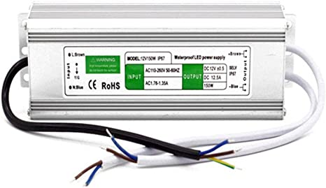 10/W/ /250/W IP67/impermeable LED Transformador conductor fuente de alimentaci/ón para tira DC 12/V