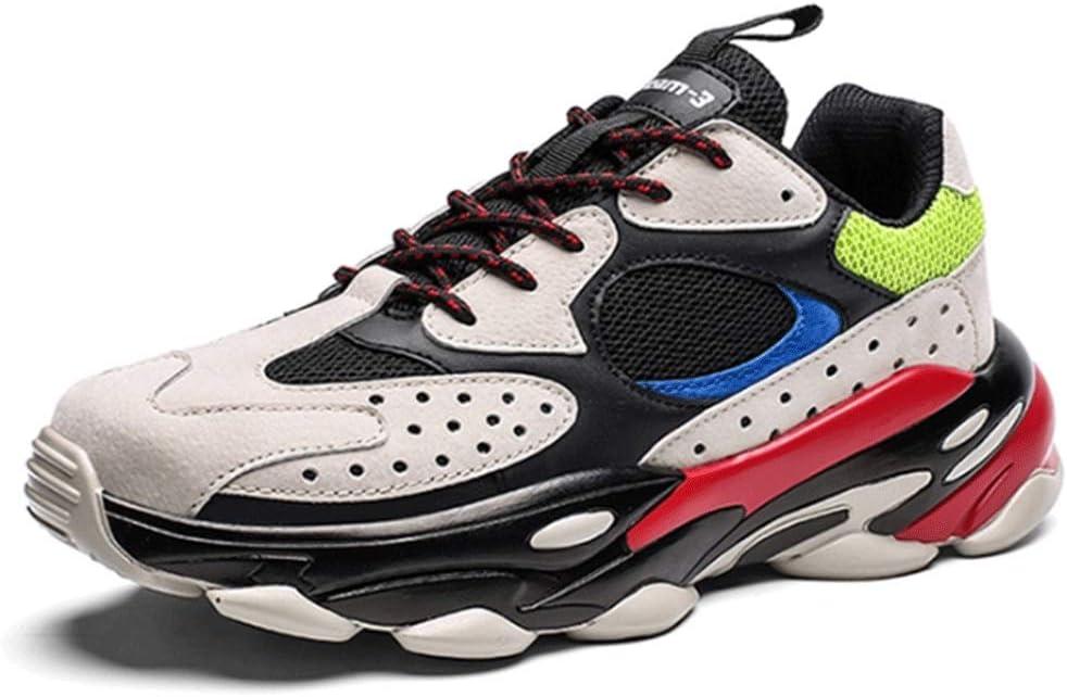 YWZQ Calzado de Running para Hombre, Zapatillas de Deporte de Gran tamaño Suelas amortiguadoras Suaves y cómodas Zapatillas de Malla Transpirable para Caminar Correr Ejercicio físico Diario,Beige,40: Amazon.es: Hogar