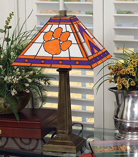 NCAA Clemson University 23in Mission Lamp, One Size, Multicolor by Memory Company