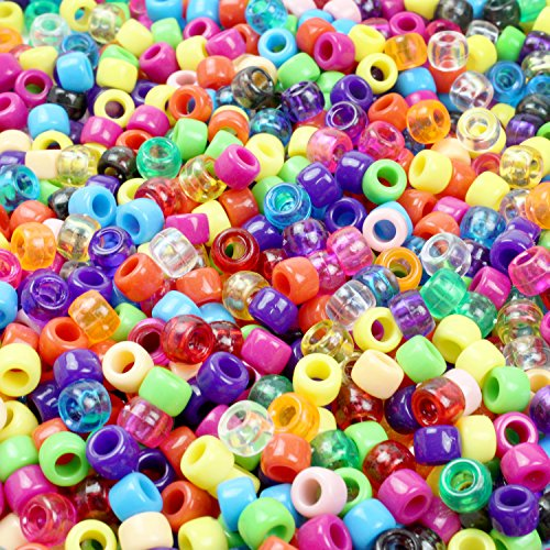 Color Mixed Beads (Goodlucky 1000 Pcs Beads Colorful Beads Craft Beads Mixed Colors & Clear)