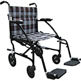 "Drive Medical Fly Lite Ultra Lightweight Transport Wheelchair, 19"""
