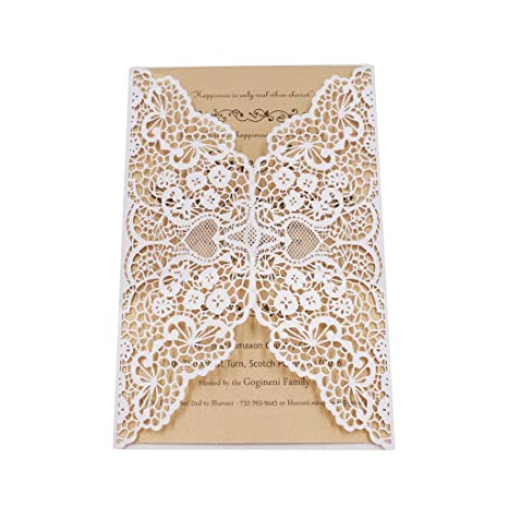 White Lace Invitations for Graduation