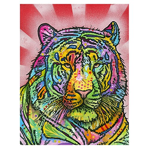 Dean Russo Tiger 10x13 Metal Artwork Ready to Hang Wall Decor Floating Mount