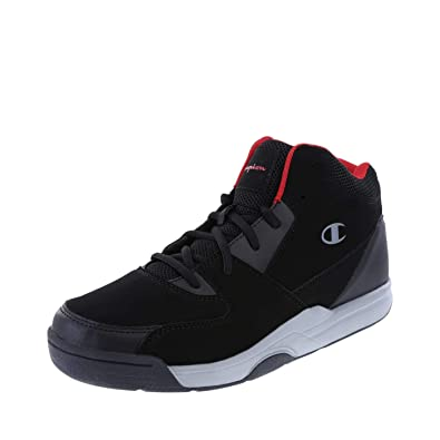 06be9e8dfdde9 Champion Men s Black Red Men s Overtime Basketball Shoe 7.5 Regular