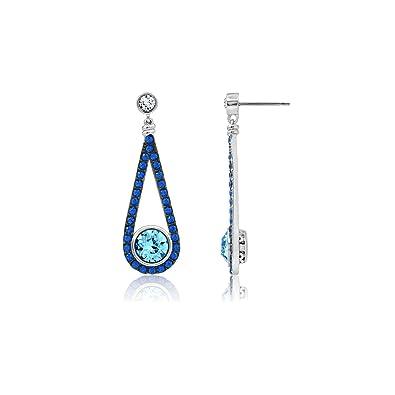 cf626d1a9 Amazon.com: J'ADMIRE 4.5 Carats Swarovski Crystal Ball Aquamarine in ...