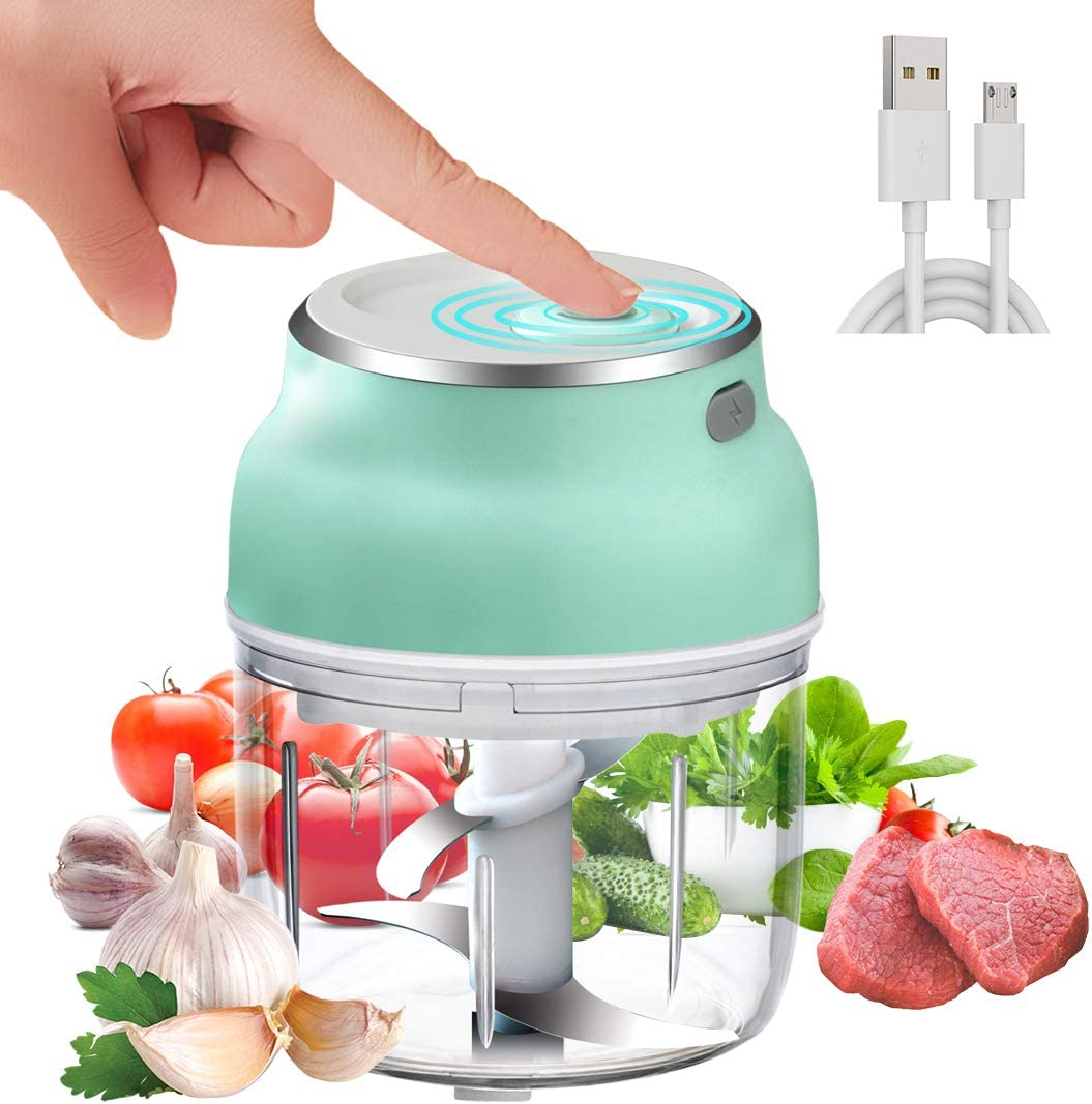 MIGECON Electric Garlic Chopper Mini Food Chopper with USB,Portable Small Food Processor for Garlic/Chili/Ginger/Onion.(230ml)