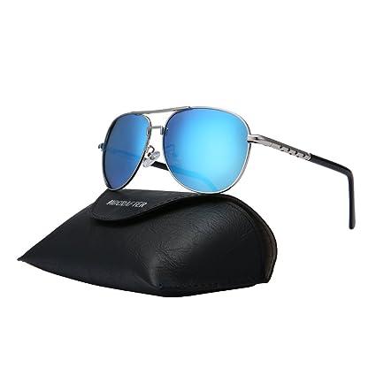 Charminer Gafas de sol, gafas de sol, redondas, luz polarizada, para hombre