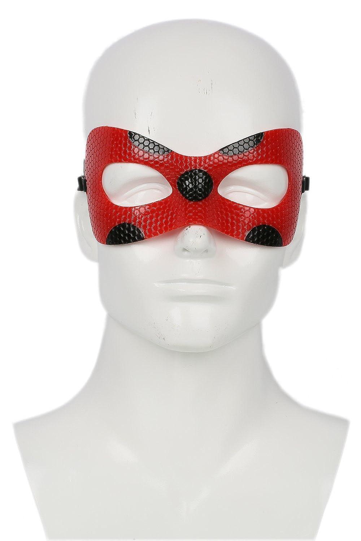 Xcoser Damen Rotes Leder Augenschatten Maske Anime Cosplay Halloween Kostüm Zubehör für Mädchen