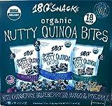 180 Snacks Nutty Quinoa Bites Variety Pack - Gluten Free, Cranberry, ...
