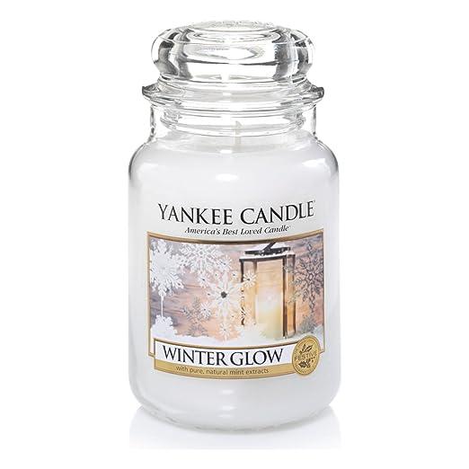 15 opinioni per Yankee candle 1342537E Winter Glow Candele in giara grande, Vetro, Bianco,