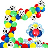 120 Pcs Toy Inspired Story Party Birthday Balloons Arch Garland, 12 INCH Cow Pattern Printed Balloons Yellow Red Blue Green Latex Balloons for Kids Birthday 1st 3rd 6th Baby Shower Decorations