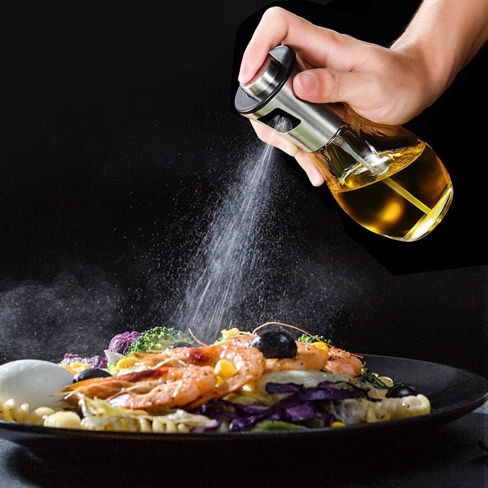 Botella de aceite Dispensador de aerosol Bomba fina Pulverizaci/ón Para cocinar Para hornear Ensalada BBQ Asar Fre/ír en la parrilla Noverlife 200ml Aceite de Oliva Mister Sprayer