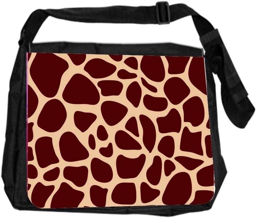 Animal Giraffe Skin Cross Body Shoulder Messenger Laptop Bag