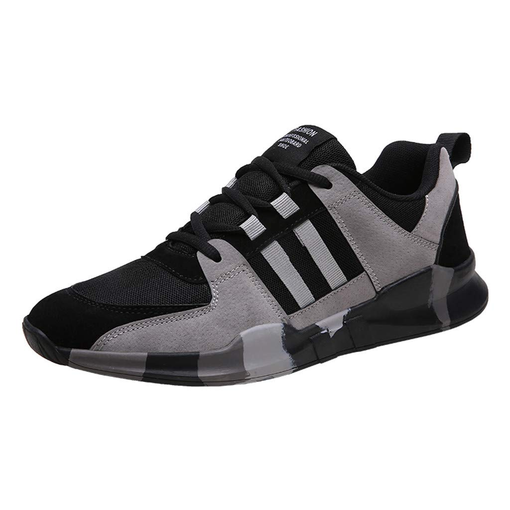 Street Sneakers Men Work Sneakers ✔ Summer Men's Lightweight Mesh Sneakers Breathable Fashion Woven Running Shoes Black