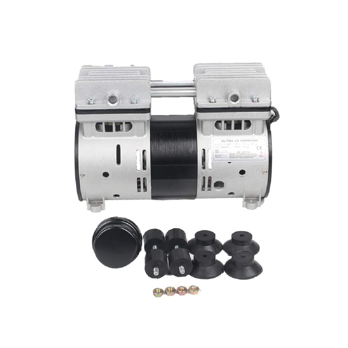 6CFM 110V Vacuum Pump 800W Oil Less Vacuum Pump Hausfeld Quiet High Vacuum Piston Compressor with US Plug