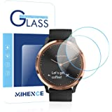 Mihence Compatible Garmin Vivomove HR Screen Protector, 2.5D rounded edges 9H Premium Real Tempered Glass Screen Protector for Garmin Vivomove HR Anti Scratch Protector (2PCS)- NEW