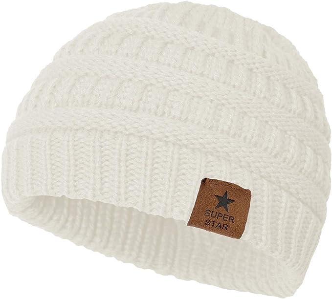Century Star Infant Warm Beanie Winter Basic Stylish Cap Baby Kids Snow Hat