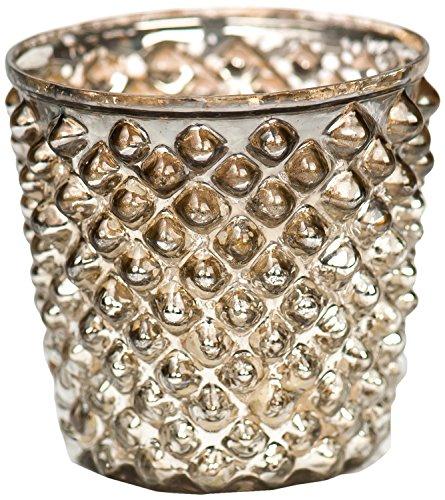 Insideretail Tea Light Holders, 7cm, Antique Silver Diamond,