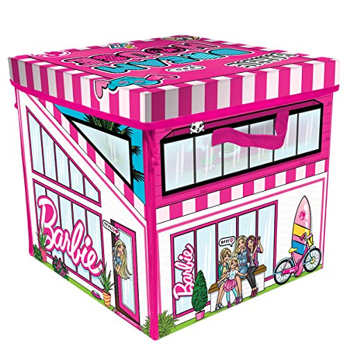 Barbie ZipBin 40 Doll Dream House Toy Box and Playmat, Styles May Vary
