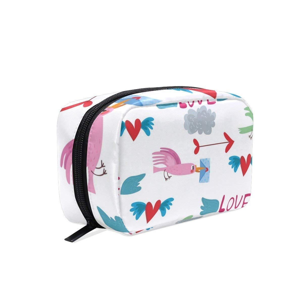 Love Bird Makeup Case Bag Appropriate Capacity Portable Beauty Girl And Women Cosmetic Bags Storage Bags for Travel