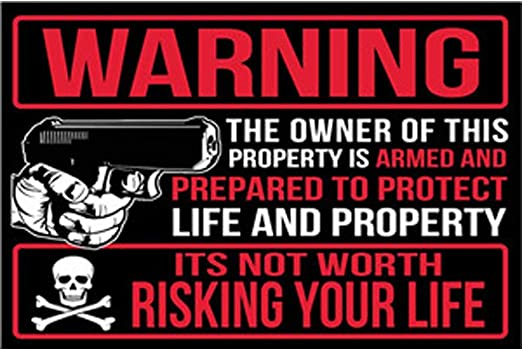 designer interior No Trespassing Pro Gun 2nd Amendment tin metal sign US SELLER