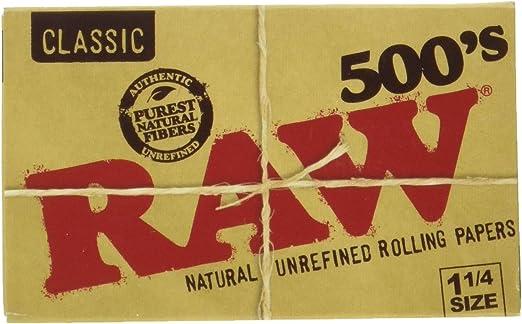 RAW Papel Bloc 500 Hojas 1 1/4 (Cada Estuche Contiene 20 LIBRITOS): Amazon.es: Hogar
