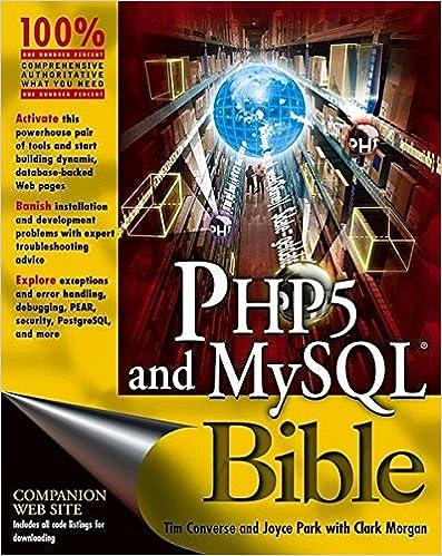 28ef7baea830 PHP5 and MySQL Bible  Tim Converse