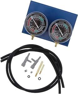 D DOLITY 2 Cylinder Motorcycle Vacuum Gauge Balancer- Carburetor Synchronizer Carburetor Balancing Gauge with Vacuum Hose/Connector