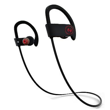 Hussar - Auriculares Bluetooth inalámbricos, deportivos, IPX4, a prueba de sudor, sonido