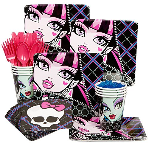 Monster High Costumes Pictures (Costume Supercenter BB101415 Monster High Party Standard Kit Serves 8 Guests)