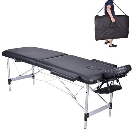 Lettino Da Massaggio Portatile In Alluminio.Mc Star 2 Zone Legno Alluminio Lettini Da Massaggio Pieghevole