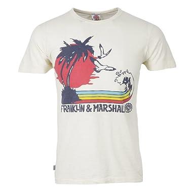 dccf76ce9 Franklin & Marshall - Rush Printed T-Shirt, Butter, XL: Amazon ...